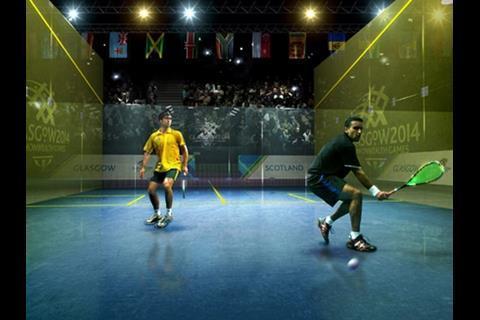Squash courts - Courtesy of Designhive/Glasgow2014